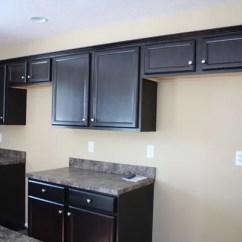 White Laminate Kitchen Cabinets Delta Faucets Contractor's Choice, Newberry, Sarsaparilla - New Construction