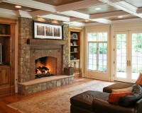 Brick Stone Fireplace | Houzz