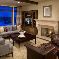 Mixing Leather Sofa Fabric Chairs Compact Sofas Brown And Gray Design Ideas & Remodel Pictures | Houzz