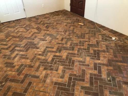 herringbone thin brick floor