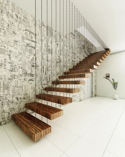 Contemporary Staircase by By Finesse