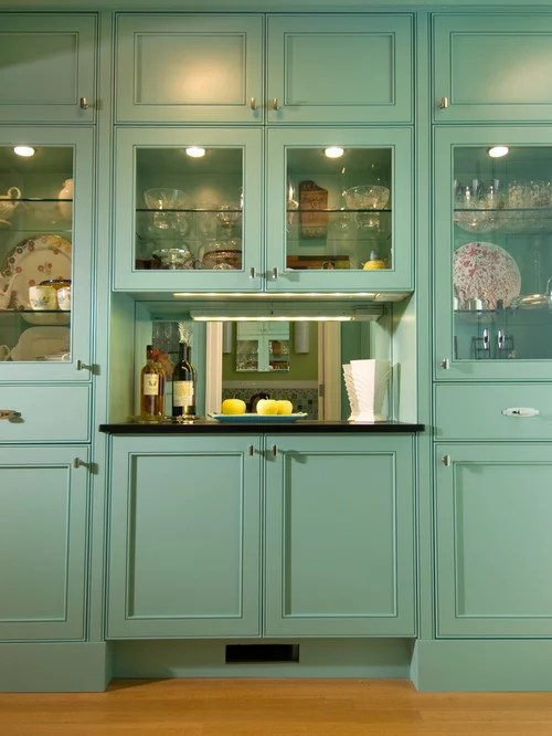 Kitchen with Turquoise Cabinets Design Ideas  Remodel Pictures  Houzz