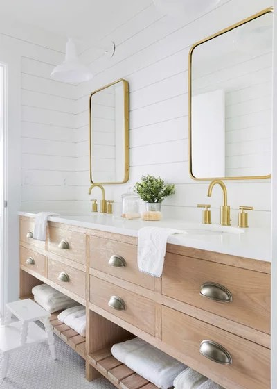 Country Bathroom by Sustainable Nine Design + Build