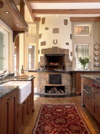 Kitchen Fireplace Home Design Ideas, Pictures, Remodel and ...