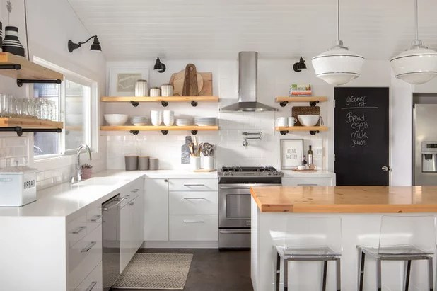Why I Combined Open Shelves And Cabinets In My Kitchen Remodel