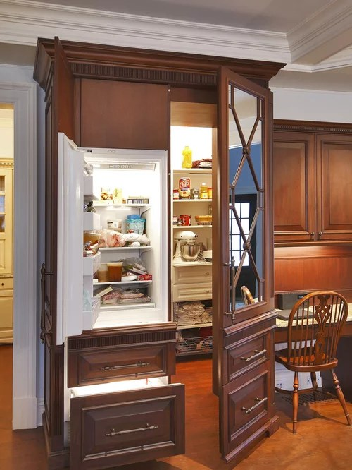 Pantry With Freezer  Houzz
