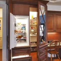 Mini Kitchen Appliances Floor Runner Pantry With Freezer | Houzz