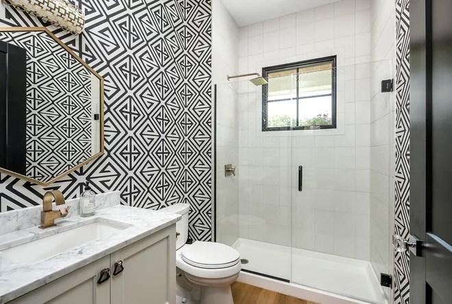 Transitional Bathroom by M House Development