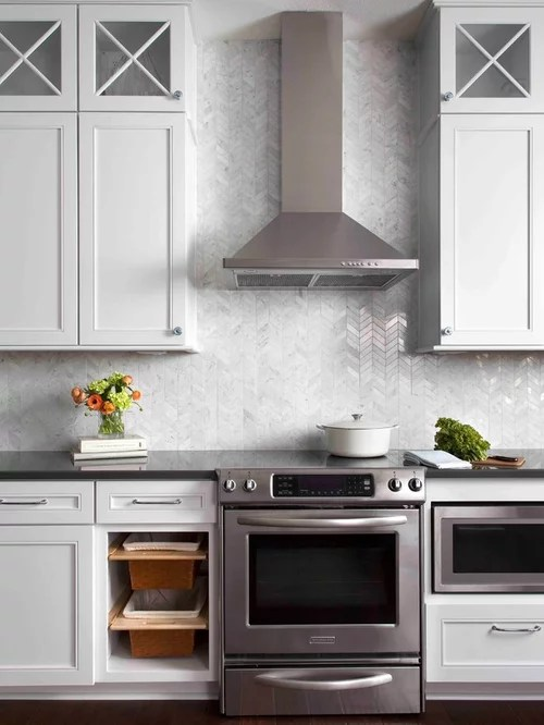 looking for used kitchen cabinets tile backsplash chevron ideas, pictures, remodel and decor