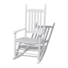 rocking chair white outdoor dining seat covers pattern 50 most popular beach style chairs for 2019 houzz vidaxl with curved wood