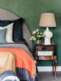 75 Most Popular Transitional Green Bedroom Design Ideas ...