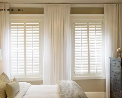 Plantation Shutter Curtain Ideas Pictures Remodel And Decor