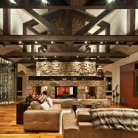 Two Way Fireplace Home Design Ideas, Pictures, Remodel and ...