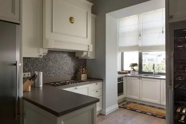дизайн кухни совмещенной с балконом 3