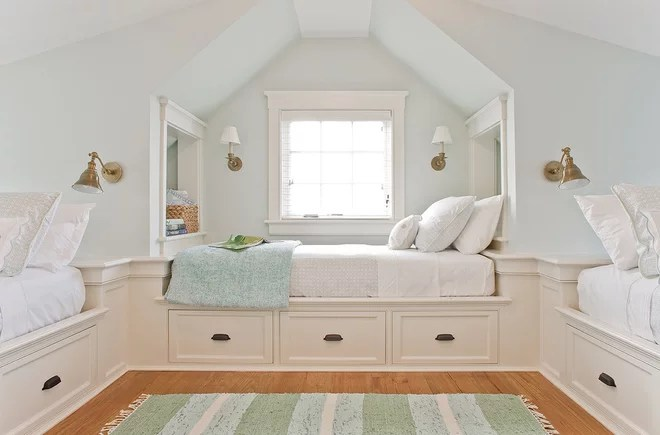 Beach Style Bedroom by JMS Architecture LLC