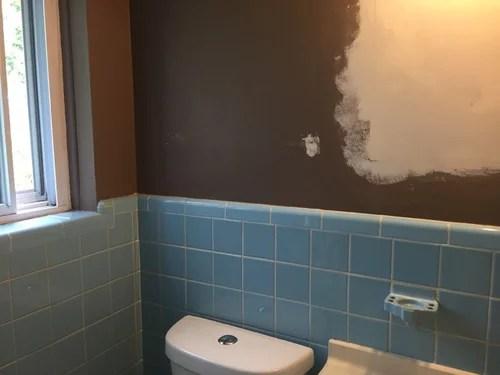 vintage blue tile in bathroom what