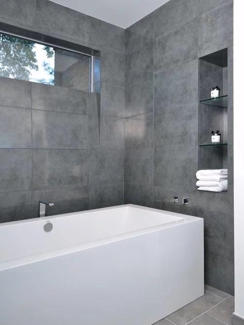 Large Format Grey Tile  Houzz