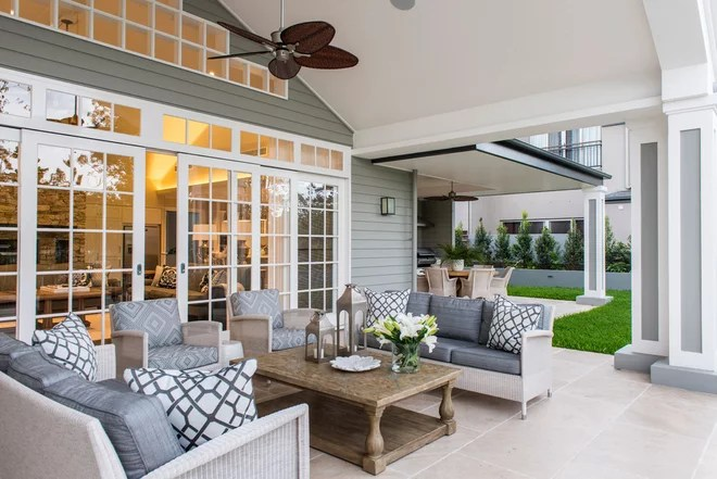 Transitional Patio by Highgate House