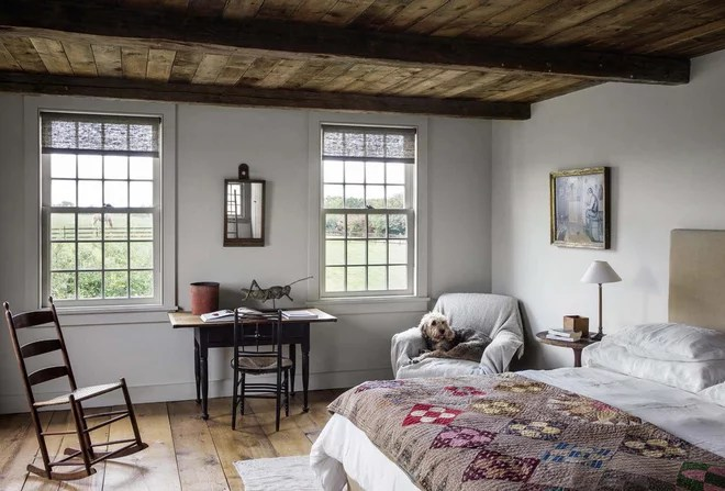 Farmhouse Bedroom by Di Biase Filkoff Architects