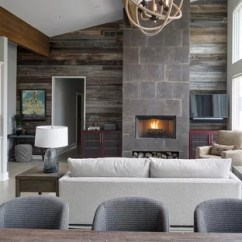 Living Room Contemporary Interiors Decor Themes 75 Most Popular Design Ideas For 2019 Example Of A Trendy Open Concept Beige Floor In Chicago With Gray Walls