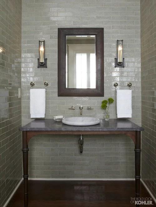 Sage Green Bathroom Houzz