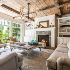 Country Living Rooms With Fireplaces Grey Room Paint Ideas Uk 75 Most Popular Design For 2019 Stylish This Is An Example Of A Formal Open Concept White Walls
