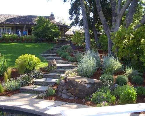 garden stone steps home design