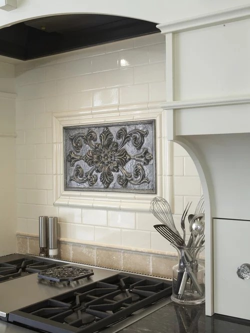 single kitchen faucet pre rinse medallion backsplash | houzz