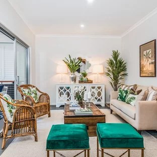 tropical living room ideas orange yellow and brown 75 most popular design for 2019 stylish photo of a in brisbane with white walls