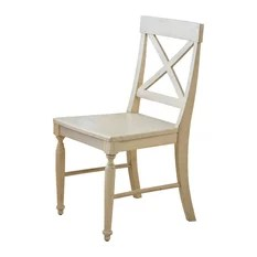farmhouse dining chairs office chair staples canada 50 most popular room for 2019 houzz gdfstudio leyden antique white wood set of 2