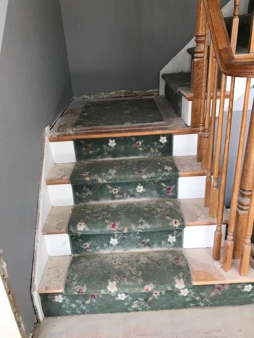 Stair Riser Painted Or Install Hardwood   Installing Hardwood Floors On Stairs   Stair Landing   Stair Nosing   Laminate   Risers   Vinyl Plank