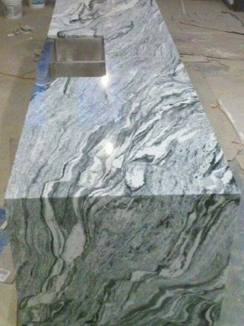 white marble kitchen table colored cabinets viscon