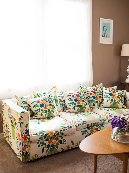 tan sofa decor flexible arm tray floral home design ideas, pictures, remodel and