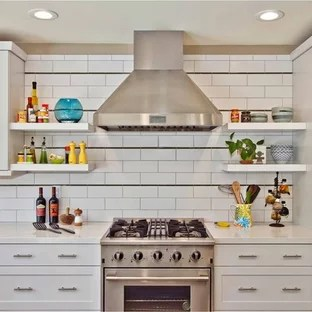 costco kitchen backsplash rolls ideas photos houzz contemporary trendy photo in san diego with subway tile white
