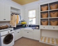 Laundry Room Design Ideas, Remodels & Photos with Cork Floors