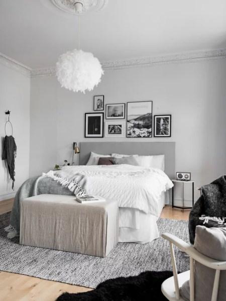 scandinavian bedroom design grey Scandinavian Bedroom Design Ideas, Renovations & Photos