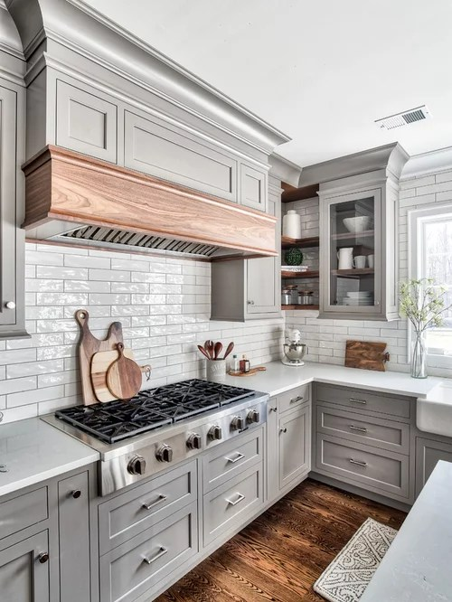 Grey  Walnut Transitional Kitchen