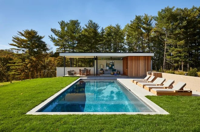Midcentury Pool by The Art of Building