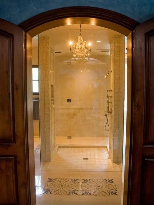 Decorative Tile Shower  Houzz