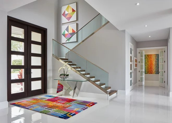 Contemporary Entry by Susan Lachance Interior Design