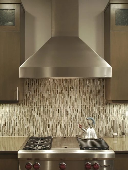 kitchen glass tile backsplash high table with storage chimney hood design ideas & remodel pictures | houzz