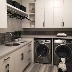 Kitchen Sink Racks Replacement Doors For Cabinets Modern L-shaped Laundry Room Design Ideas, Renovations ...