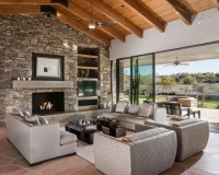 Best Stone Wall Fireplace Design Ideas & Remodel Pictures