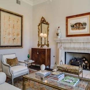 leopard print living room furniture sets animal ideas photos houzz traditional dark wood floor idea in austin with gray walls and