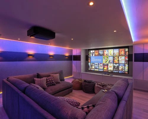 Small Home Theatre Design Exciting Modern Theater With Wooden Floor