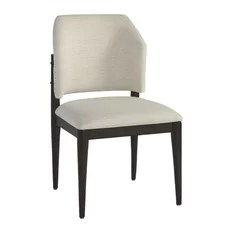 mid century barrel dining chair packable camp chairs houzz zin home eva upholstered back side set of 2