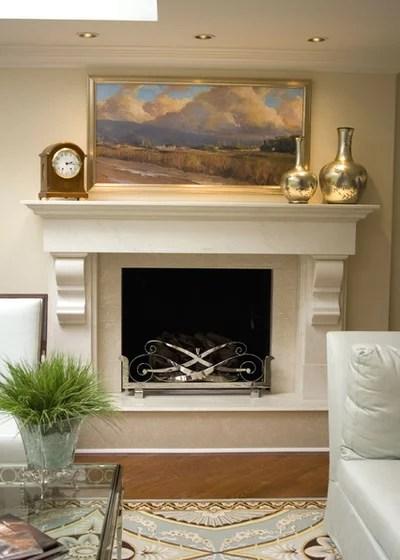 Sleek Beautiful Stone Slab Fireplace Surrounds