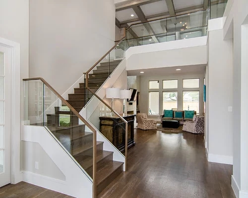 Best L Shaped Staircase Design Ideas Remodel Pictures | L Shape Stair Design