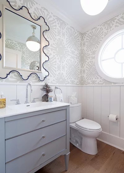 Transitional Powder Room by VAS Construction Inc.