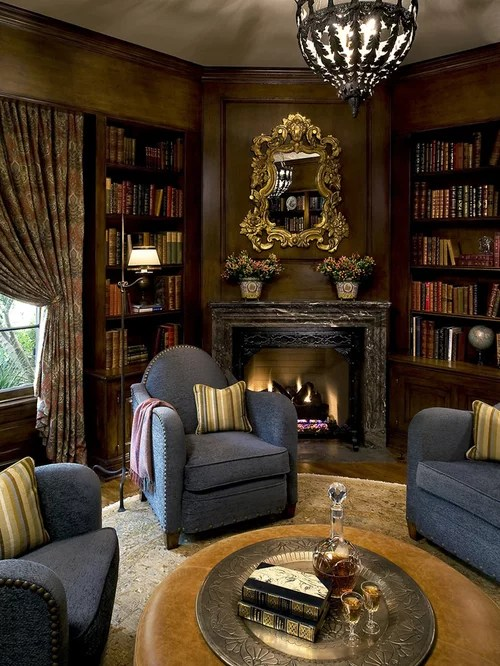Library Fireplace Design Ideas  Remodel Pictures  Houzz